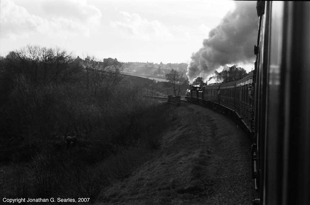 K&WV Train On A Curve To The Left, West Yorkshire, England(UK), 2007