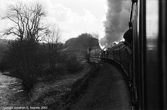 K&WV Train On A Curve To The Left, Picture 2, West Yorkshire, England(UK), 2007