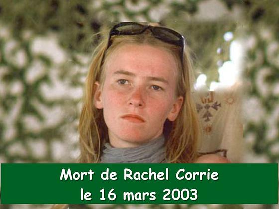 Anniversaire de la mort atroce de Rachel Corrie
