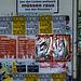 Plenkende Plakatwand , raus , weltweit !