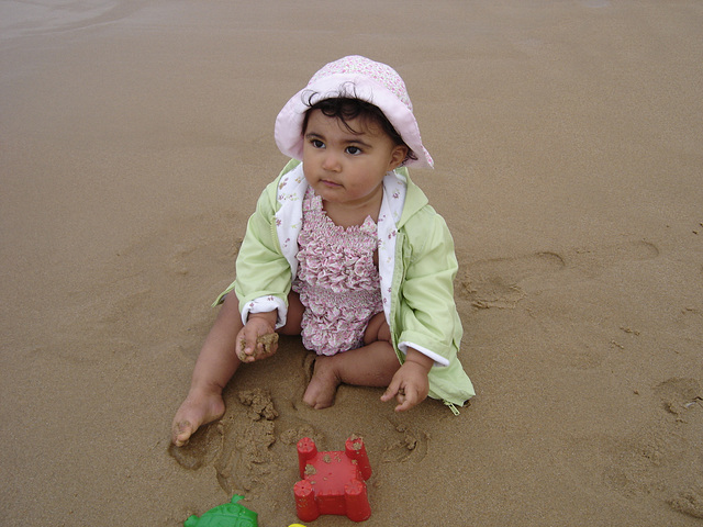 Rafaela, on the sand