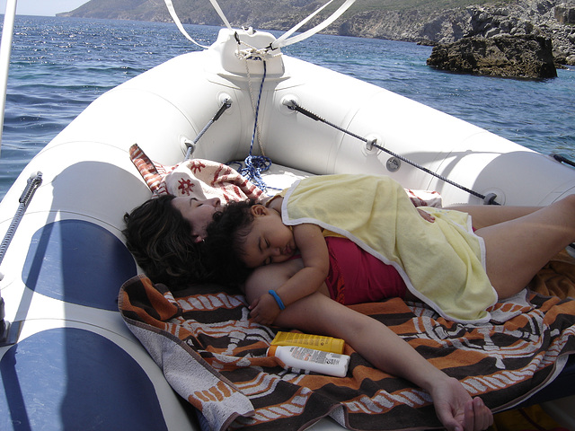 Rafaela, mother´sleeping at sea