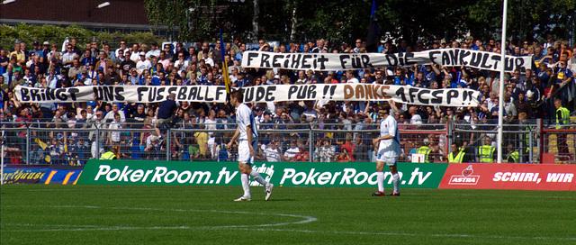 Freiheit für die Fankultur bringt uns Fussballfreude pur! Danke 1.FCSP!