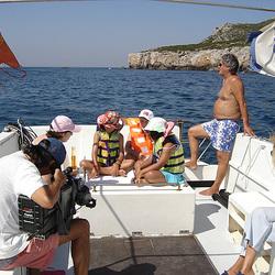 Escola de Mar, national TV broadcasting (RTP) recording a programme for children
