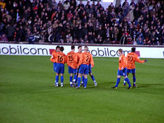 Orange-blaue Hertha