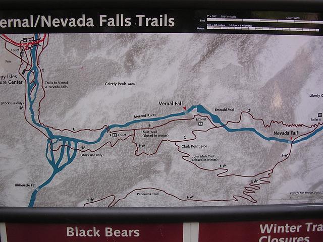 Vernal and Nevada Falls Trail