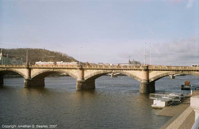 T3 On Palackeho Most With Hradcany In Background, Picture 2, Prague, CZ, 2007