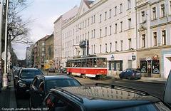 DPP #8603 Passing Hotel Beranek, Belehradska, Prague, CZ, 2007