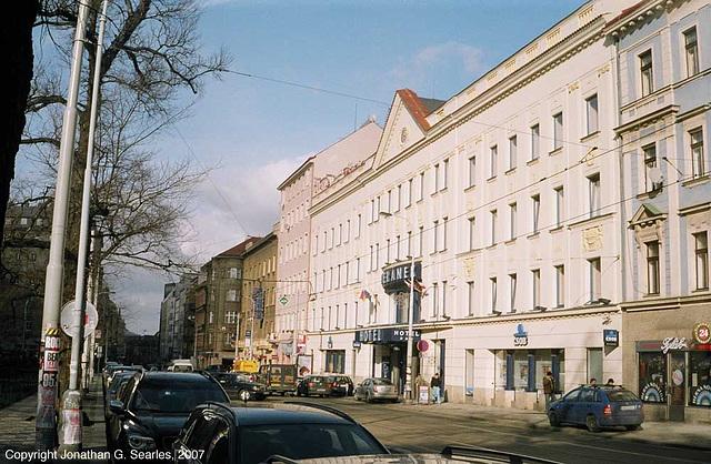 Hotel Beranek, Tylovo Namesti/Belehradska, Prague, CZ, 2007