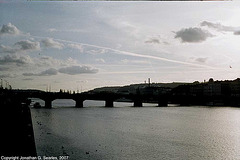 Sunset Over Palackeho Most, Prague, CZ, 2007