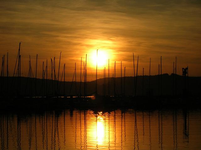 Coucher de soleil au Lac de Madine