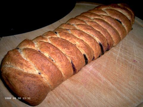 Maple-Blueberry Whole-Wheat Braid