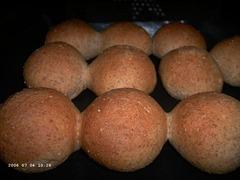 Sesame Whole-Wheat Rolls