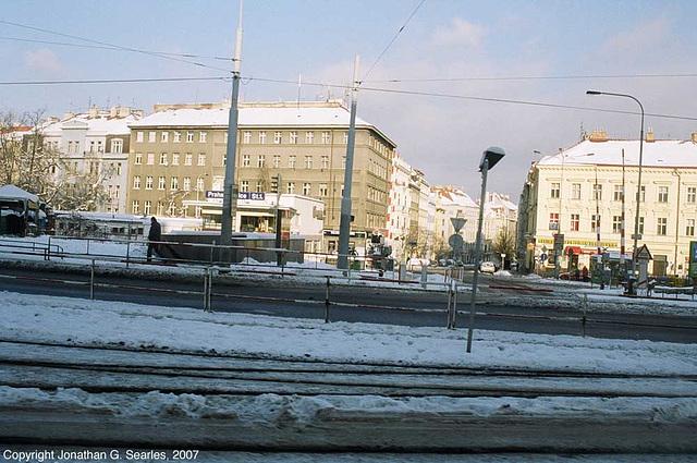 Dejvice Signalbox, Next To Hradcanska Tram Stop And Metro Station, Prague, CZ 2007