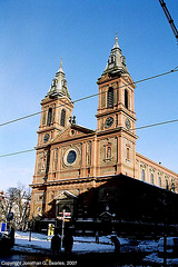 Kostel sv. Vaclava (St. Wenceslas'/St. Vaclav's Church), Stefanikova, Smichov, Prague, CZ, 2007