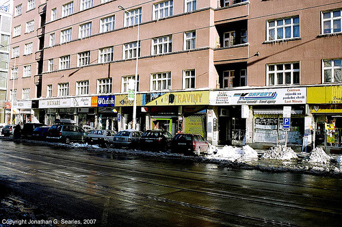 Shops, Stefanikova, Smichov, Prague, CZ, 2007