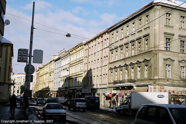 Shops And Shadows, Stefanikova, Smichov, Prague, CZ, 2007