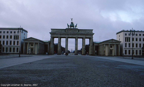 Brandenberger Tor (Brandenberg Gate), Color Shot 1, Berlin, Germany, 2007