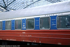 RZD/Wagons-Lits 00102285, Picture 1, Berlin Hbf, Berlin, Germany, 2007
