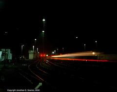 Train Head And Marker Light Streaks, Cercany, Bohemia(CZ), 2006
