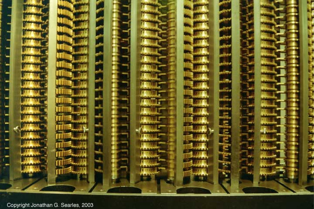 Charles Babbage's Difference Engine, Science Museum, London, England(UK), 2003