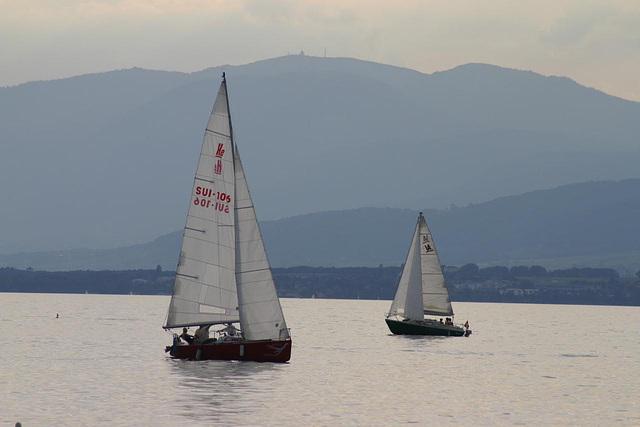 Boats on Lake Geneva