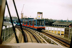 Docklands Light Railway #78 From The Cab Of An Oncoming Train, London, England(UK), 2004