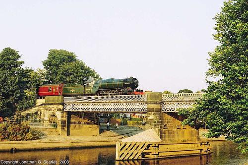 "ex-BR #60800 (ex-LNER #4771 and 800) ""Green Arrow"" On Scarborough Bridge, York, North Yorkshire, England(UK), 2003"