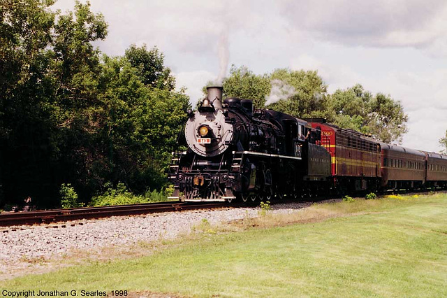 NYS&W #142 and #2400 In Southern New York, USA, 1998