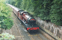 "ex-GWR #5972 ""Olton Hall"" Hauling ""The Wizard Express"" Into York, North Yorkshire, England(UK), 2003"