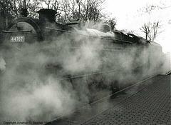 "ex-BR #44767 (ex-LMS #4767) ""George Stephenson,"" Holt, Norfolk, England(UK), 1999"