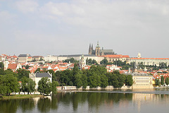 View of Prague Castle, Hradcany and Mala Strana