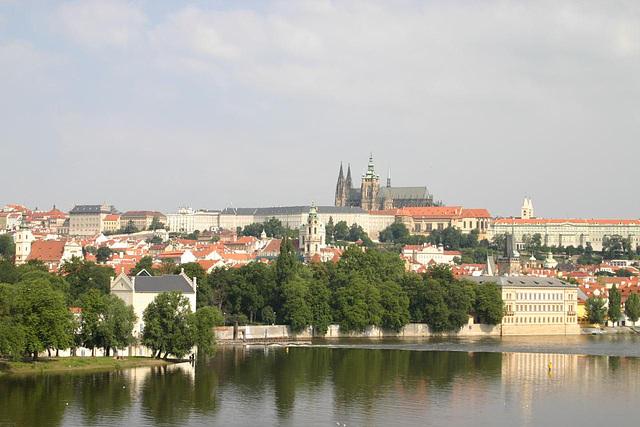 View of Prague Castle, Hradcany and Mala Strana