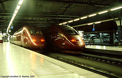 2nd Generation Thalys High Speed Trains, Bruxelles-Midi Station, Brussels, Belgium, 2007