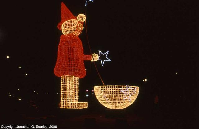 Light Santa, Berlin, Germany, 2006