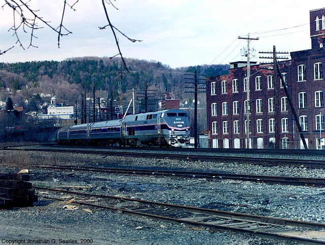 Amtrak #714 Working An Empire Service At Little Falls, NY, USA, 2000