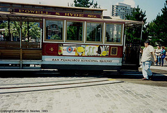 Cable Car On Turntable At Beach, Picture 3, San Francisco, CA, USA, 1993