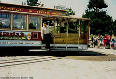 Cable Car On Turntable At Beach, Picture 1, San Francisco, CA, USA, 1993