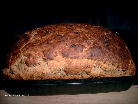 Cinnamon Raisin Bread aan een kant uit z'n dak