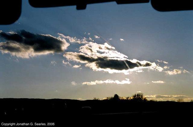Sunset Over Pennsylvania, Interstate 476, PA, USA, 2006