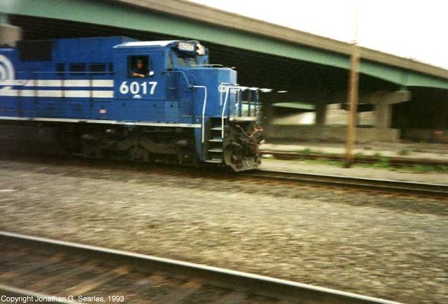 Conrail #6017 (Rescan), Utica, NY, USA, 1993