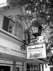 Wines & liquor  /  Woodstock -  New-York state. USA-  July 21st 2008.  -  B & W