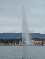 Geyser in Geneva port