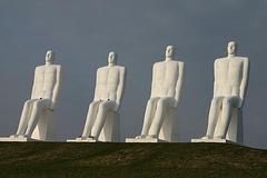 Four sitting men