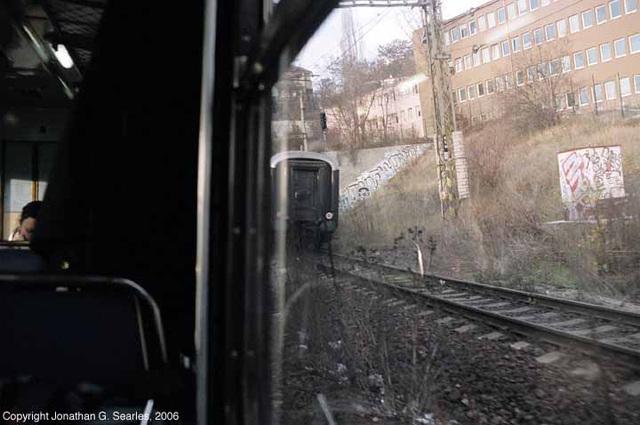 Wagons-Lits Sleeper Train Approaching Prague, CZ, 2006