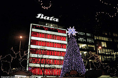 Christmas Decorations Outside Bata, Prague, CZ, 2006