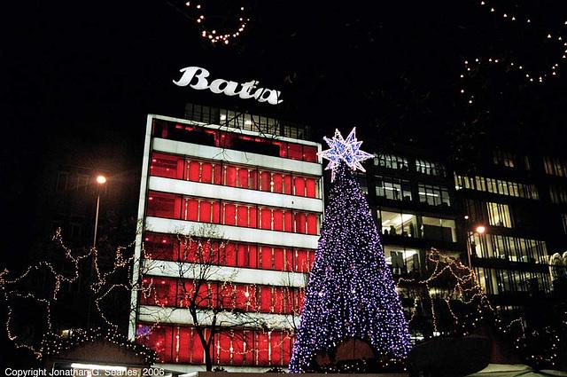 Christmas Decorations Outside Bata, Prague, CZ, 2006