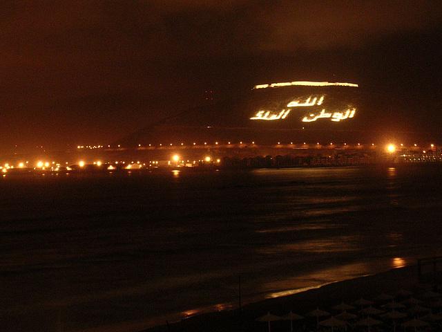 Marokko - Agadir bei Nacht