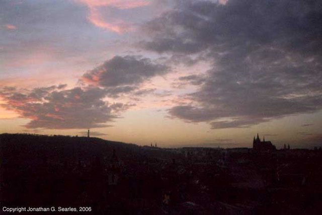 Sunset From Stare Radnice, Picture 2, Prague, CZ, 2006