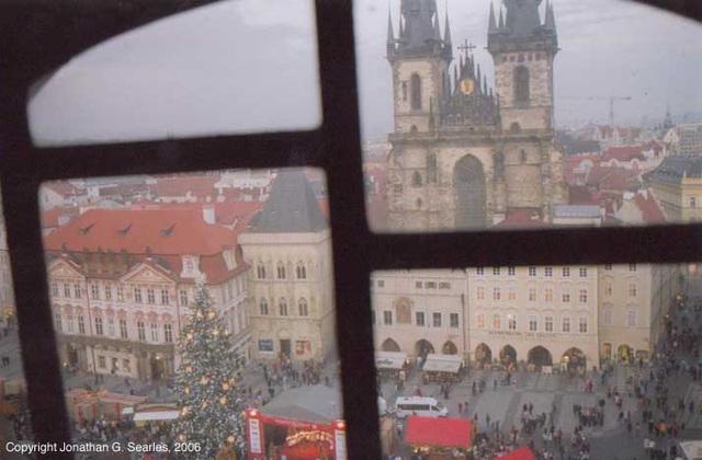 Staromestske Namesti From Stare Radnice Clock Tower, Prague, CZ, 2006